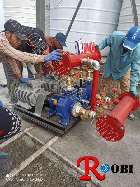 نصب پمپ آب کارخانه